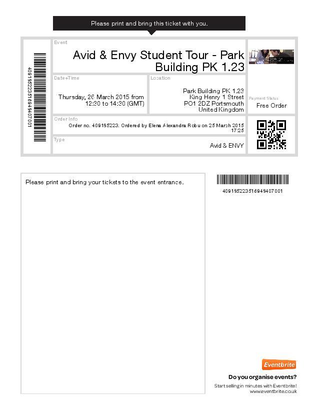 Avid Ticket PDF Thumbnail